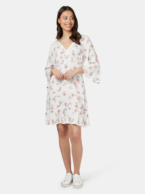 Jordyn Ladder Dress, White, hi-res