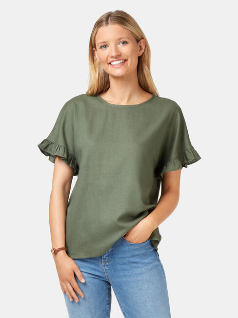 Fiona Ruffle Sleeve Top