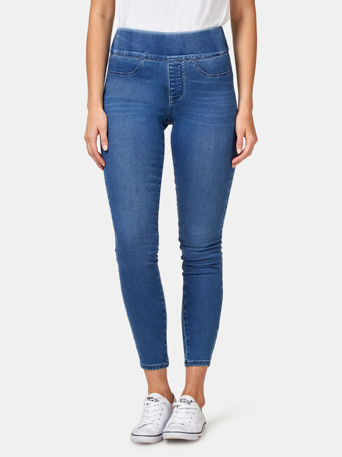 Tummy Trimmer Luxe Lounge Skinny Jeans Mid Indigo