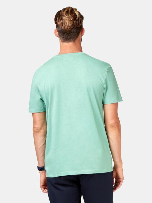 Rye Short Sleeve Print Crew Tee, Blue, hi-res