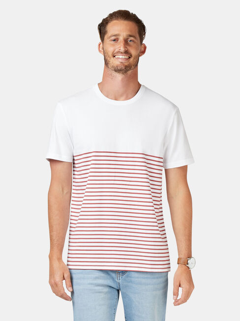 Cannon Short Sleeve Stripe Crew Tee
