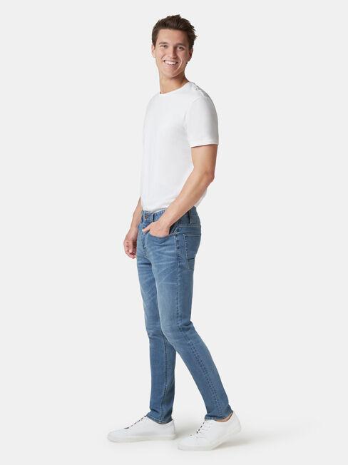 Denim Flex Slim Tapered Jeans Mid Vintage