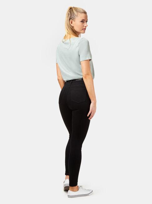 Freeform 360 Contour H/W Skinny 7/8 Jeans Black, Black, hi-res