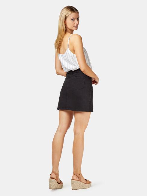 Mel Patch Pocket Skirt, Black, hi-res
