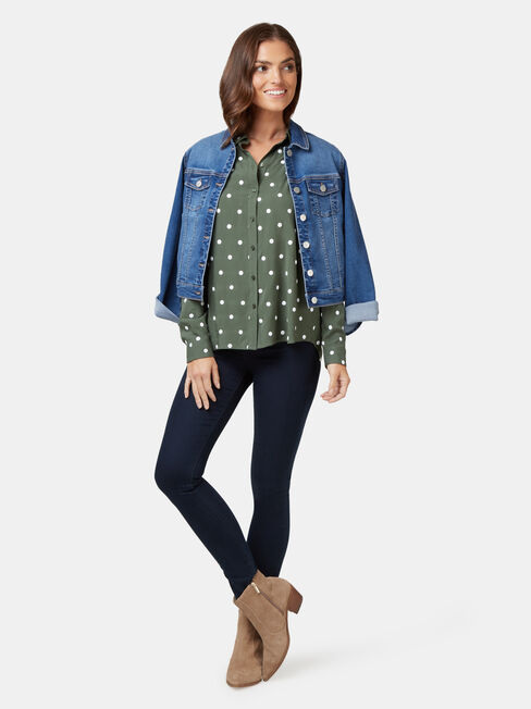 Thea Embroidered Shirt, Multi, hi-res