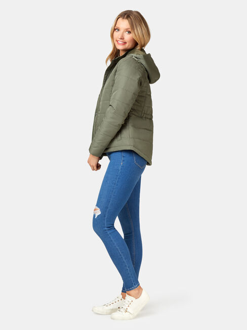 Claire Water Resistant Jacket, Green, hi-res