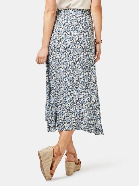 Chloe Midi Wrap Skirt, Blue, hi-res