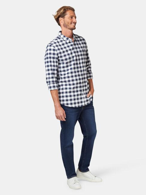 LS Holt Oxford Check Shirt, Blue, hi-res