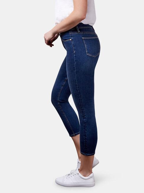Kara Mid Waist Skinny Capri Jeans Mid Vintage, Mid Indigo, hi-res