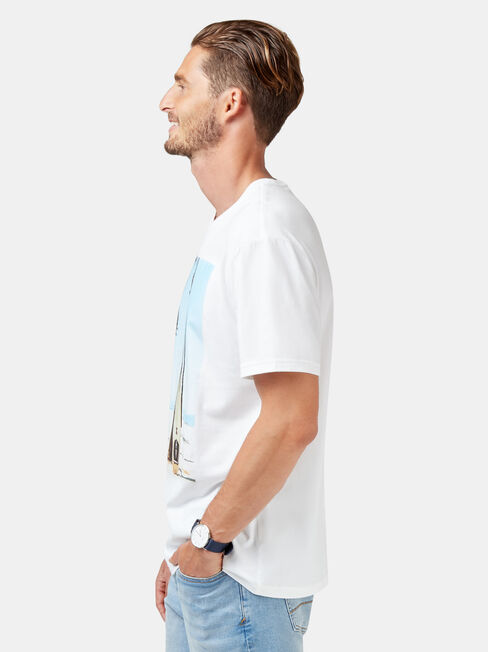 Cove Short Sleeve Print Crew Tee, White, hi-res