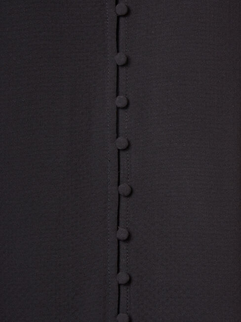 Ariah Button Front Top, Black, hi-res