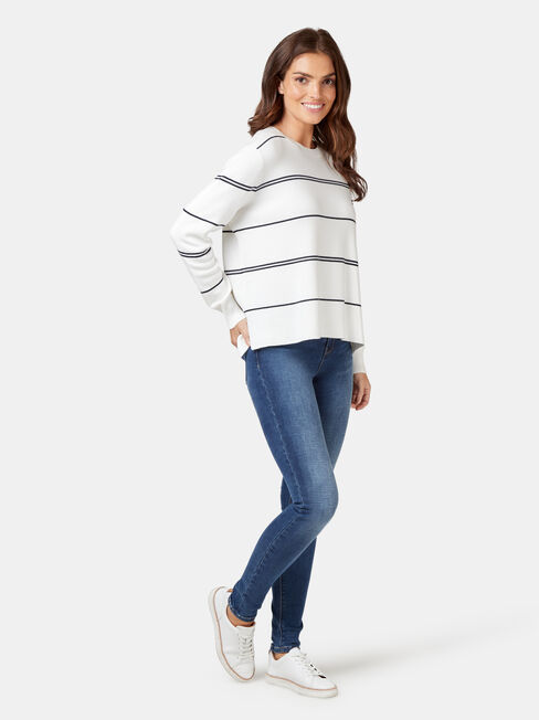 Piper Cotton Stripe Knit, Stripe, hi-res