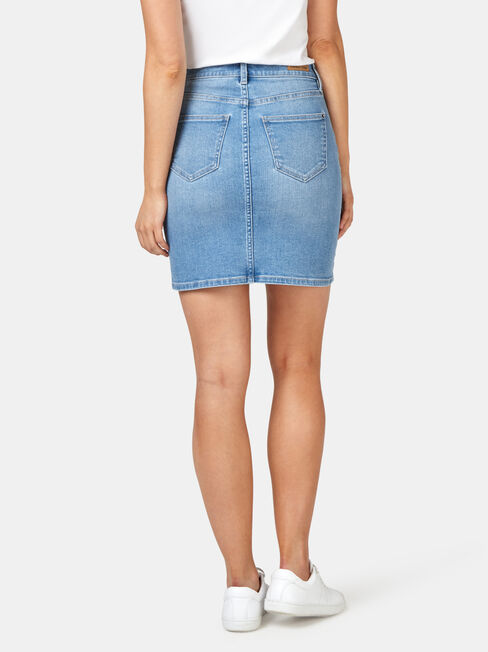Mariah Classic Denim Skirt, Blue, hi-res