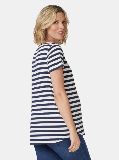 Christina Heart Maternity Tee, Stripe, hi-res