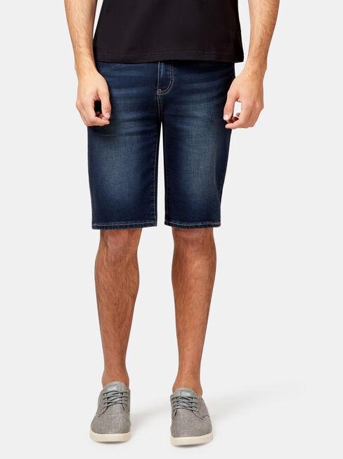 Bradford Knit Denim Short, Blue, hi-res