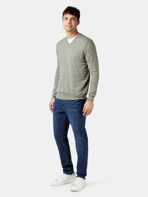 Blake V-Neck Knit, Green, hi-res