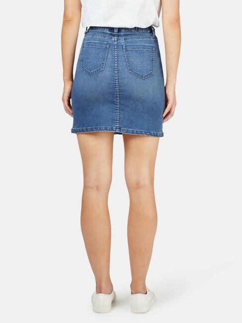 Bella Luxe Lounge Skirt, Blue, hi-res