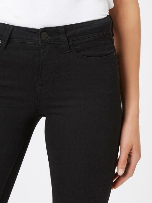 Skinny Jeans Absolute Black, Black, hi-res
