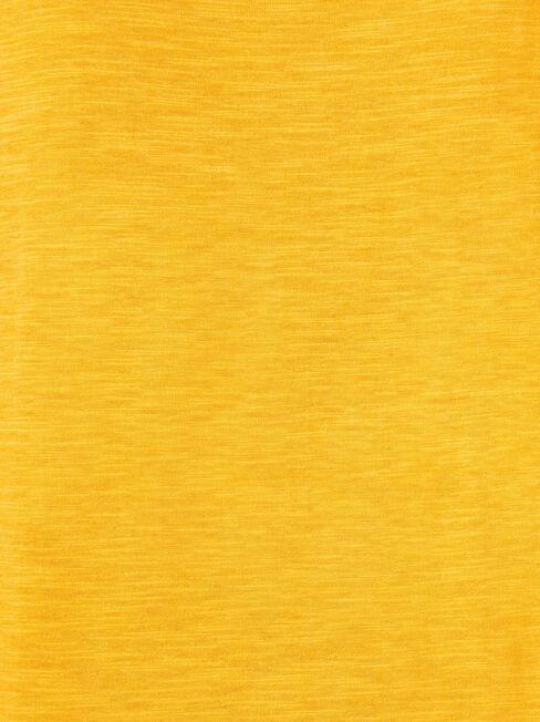 Essential Boatneck Tee, Yellow, hi-res
