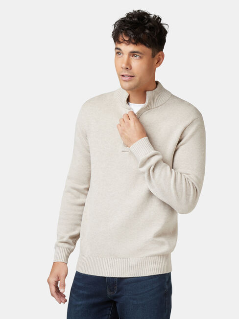 Fisher Shawl Neck Knit, Brown, hi-res