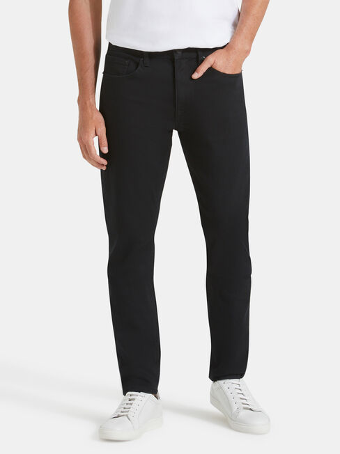 Slim Tapered Jeans Black Rinse