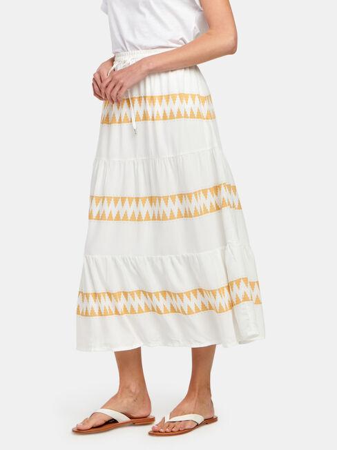 Tiffany Tiered Midi Dress, Stripe, hi-res