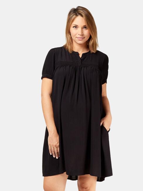 Helena Shirred Maternity Dress