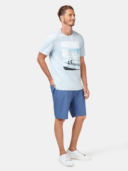 Sundays Short Sleeve Print Crew Tee, Blue, hi-res