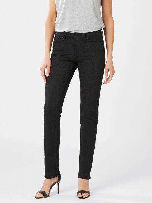 Slim Straight jeans Black