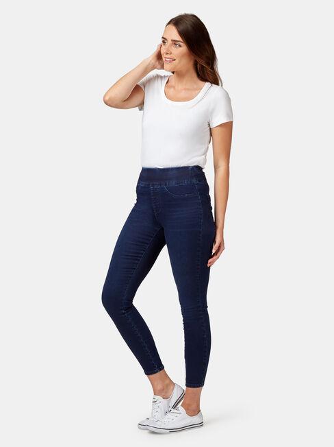 Tummy Trimmer Luxe Lounge Skinny Jeans Dark Indigo