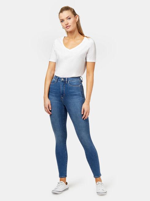 Freeform 360 Contour H/W Skinny 7/8 Jeans True Blue, Mid Indigo, hi-res