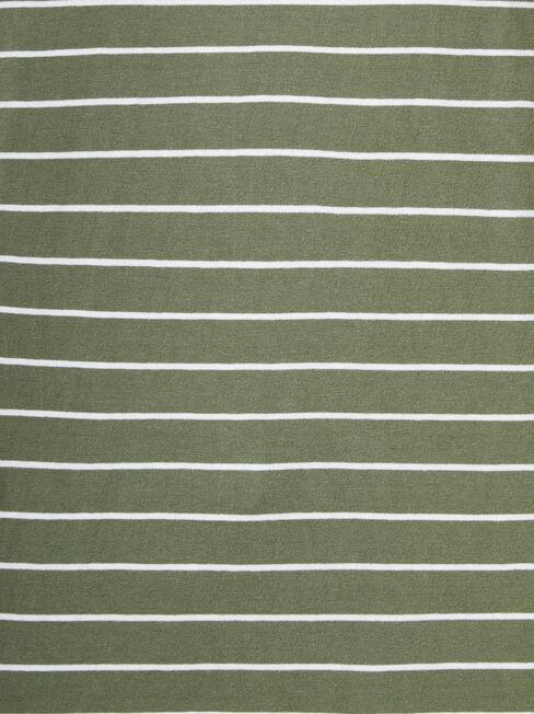 Curve Hem Crew Tee, Stripe, hi-res
