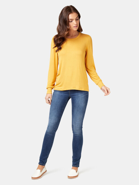 Billy Blouson Soft Touch Top, Yellow, hi-res