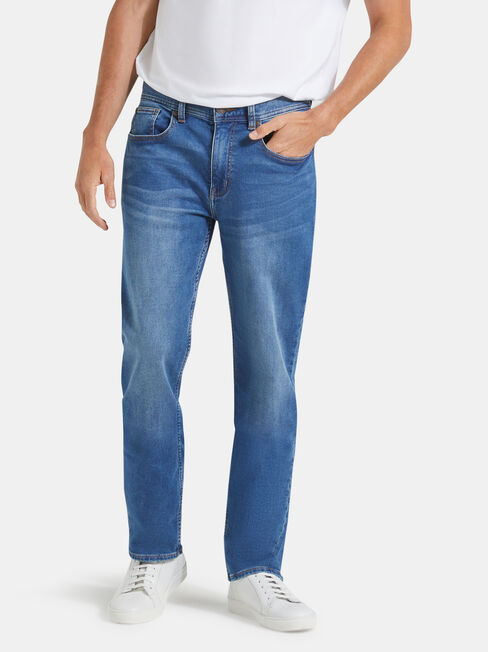 Slim Straight Jeans Light Wash