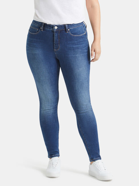 Curve Embracer Butt Lifter Skinny Jeans Mid Sapphire, Mid Indigo, hi-res