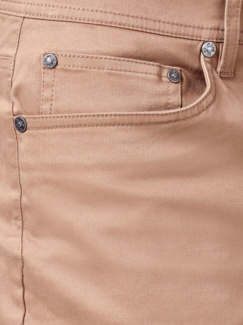 Bowen 5 Pocket Short, Brown, hi-res