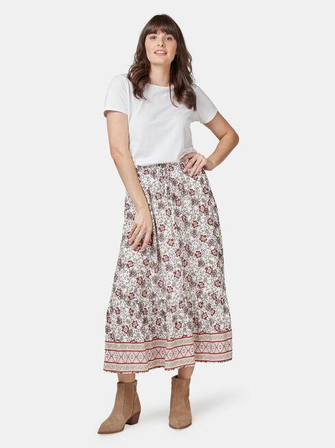 Kira Tiered Skirt, Multi, hi-res