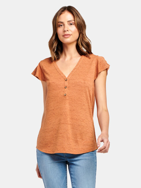 Milly Button Front Tee