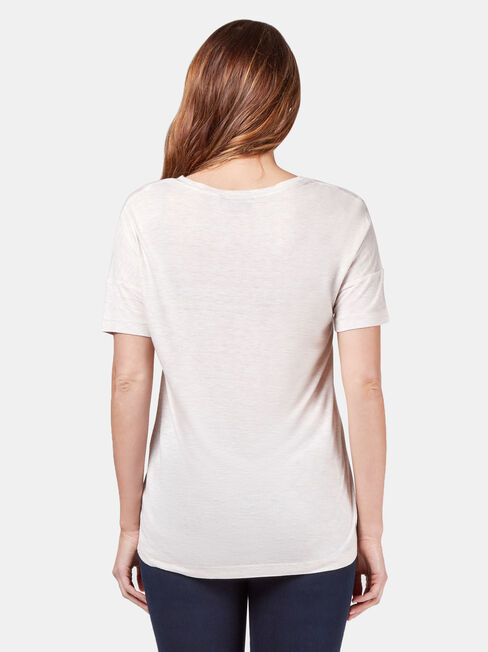 Lexie Lurex Tee, Brown, hi-res