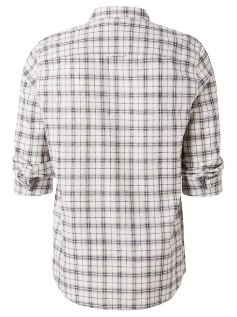 LS Porter Check shirt, White, hi-res