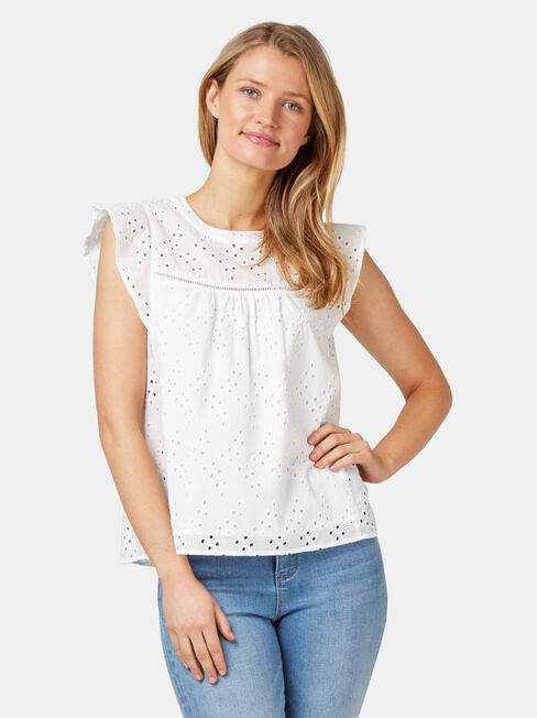 Gianna Broderie Top