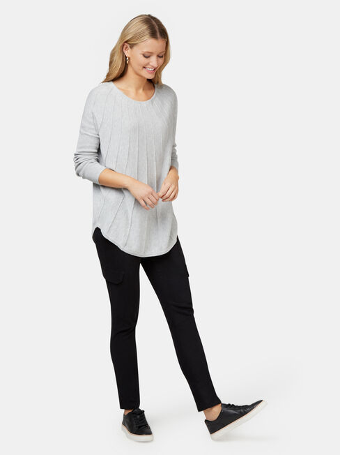 Mia Swing Pullover, Grey, hi-res