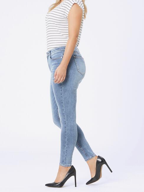 Curve Embracer Skinny jeans Soft Vintage, Light Indigo, hi-res