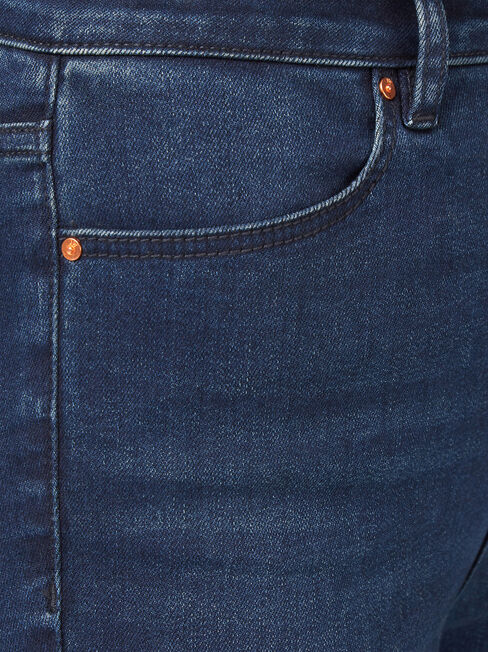 Eco Soft High Waisted Skinny 7/8 Jeans Dark Indigo, Dark Indigo, hi-res