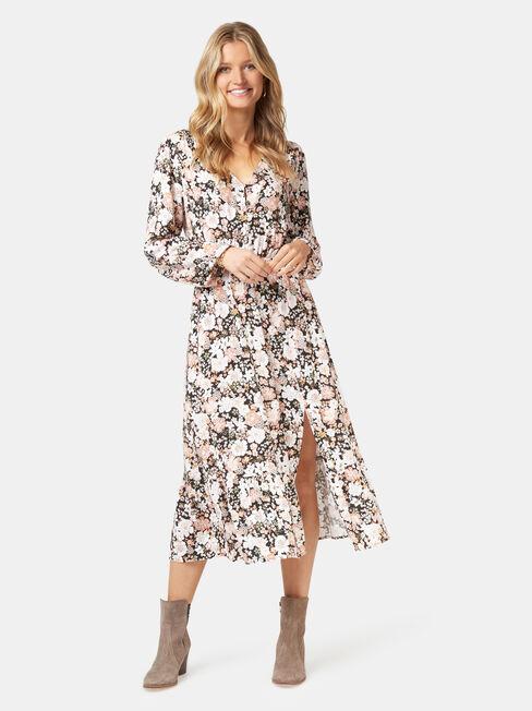 Scarlett Long Sleeve Midi Dress