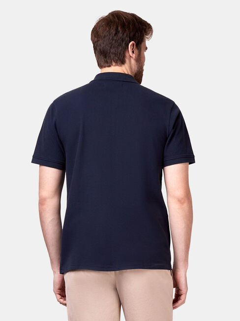 Jacob Short Sleeve Polo, Blue, hi-res