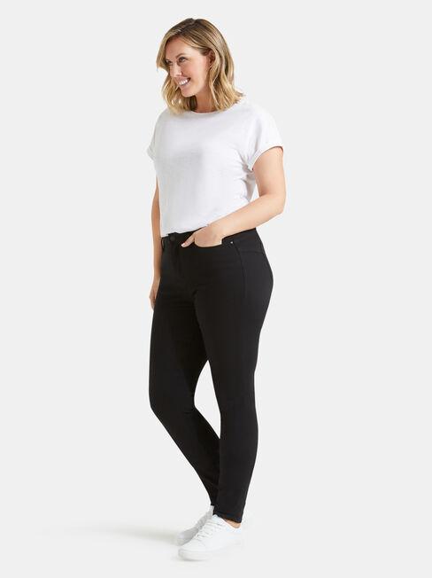 Curve Embracer Butt Lifter Skinny Jeans Black Night, Black, hi-res
