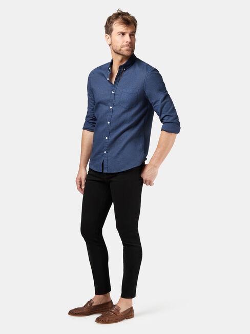 LS Rohan Print Shirt, Blue, hi-res
