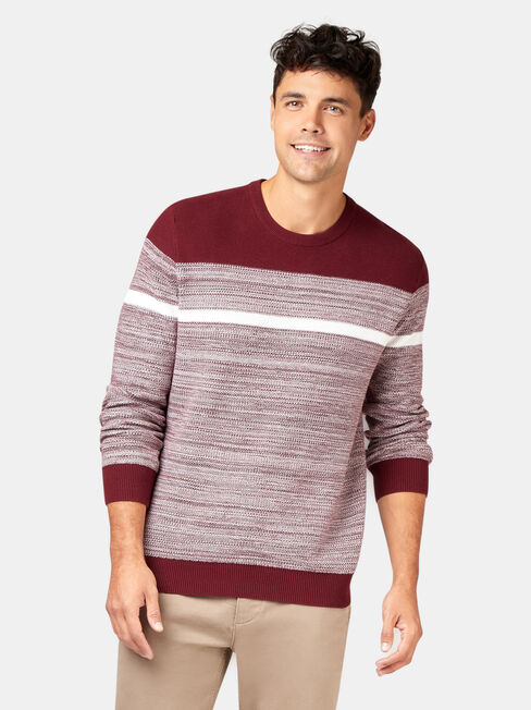 Grant Block Stripe Crew Knit