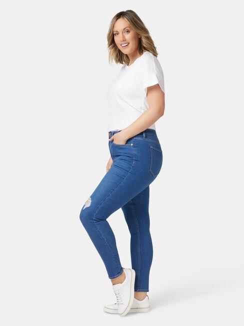 Valerie Curve Embracer Skinny 7/8 Jeans Mid Indigo